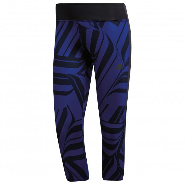 adidas - Women's D2M Regular Rise Print Tight 3/4 - Verryttelyhousut