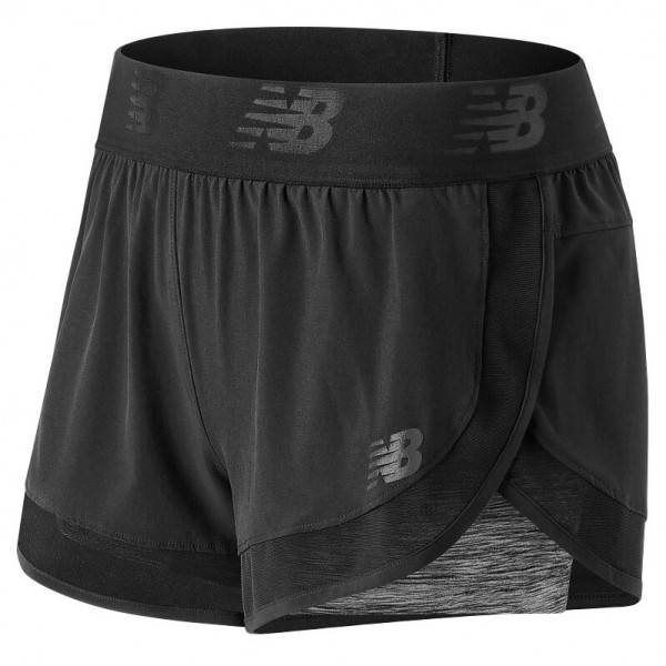 New Balance - Women's Mixed Media 2 In 1 Short - Løbeshorts og 3/4-løbetights