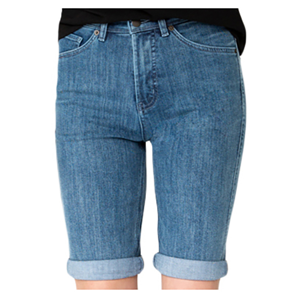 DU/ER - Women's Performance Denim Commuter Shorts - Pantalones cortos