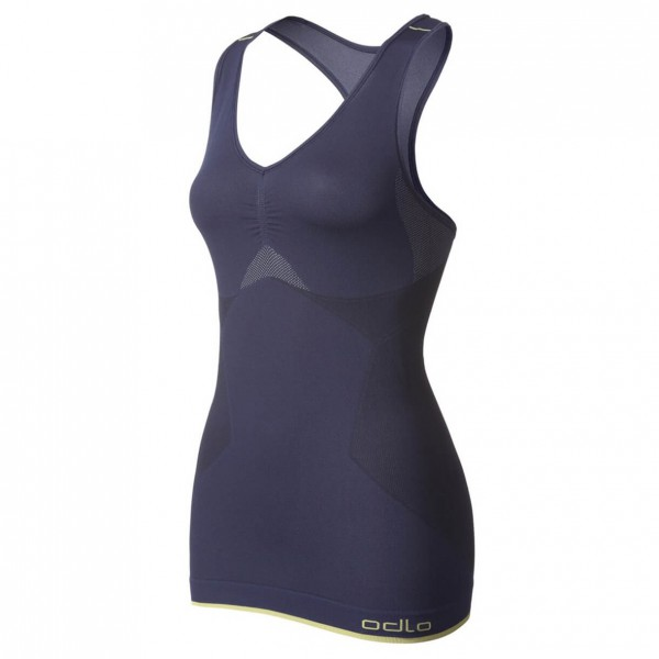 Odlo - Women's Singlet V-Neck Evolution Light Greentec - Top