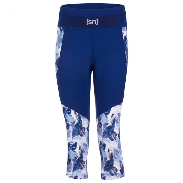 SuperNatural - Women's Active Leaves 3/4 Tight Printed - Yogatights