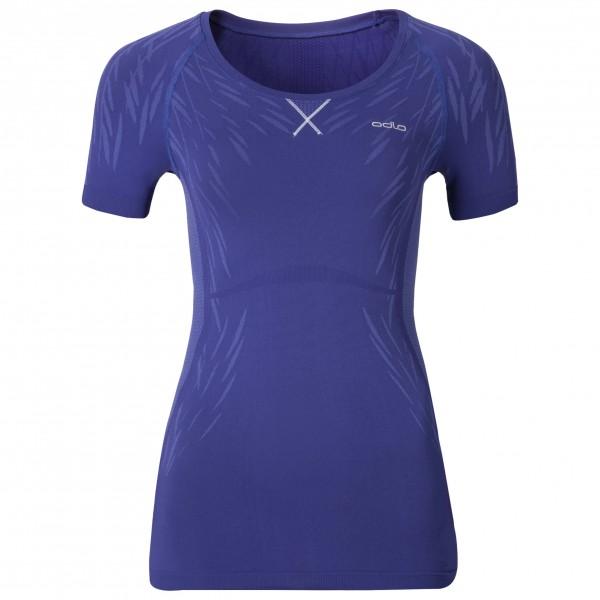 Odlo - Women's Shirt S/S Crew Neck Evolution Light Blackc - Syntetisk undertøy