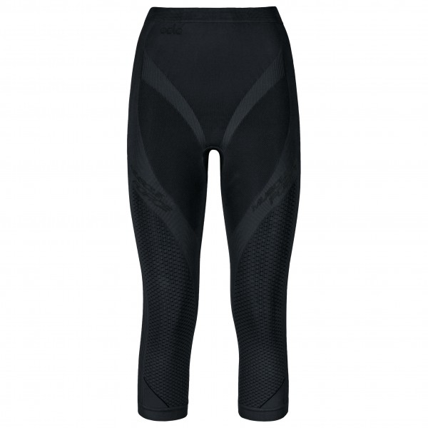 Odlo - Women's Pants 3/4 Evolution Warm Muscle Force - Tekokuitualusvaatteet