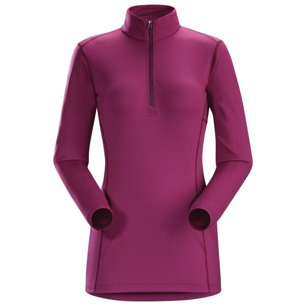 Arc'teryx - Women's Phase AR Zip Neck L/S - Syntetisk undertøj