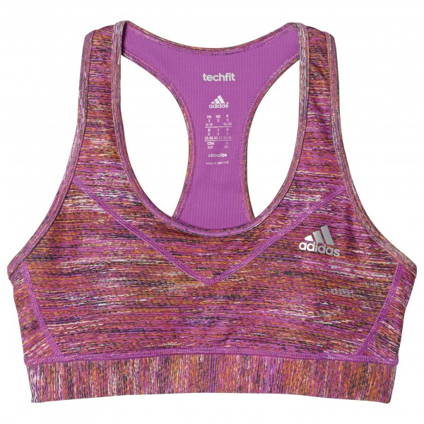 adidas - Women's Techfit Heather Print Padded Bra - Sport-BH