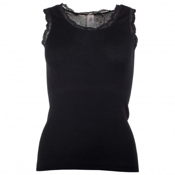 Engel - Women's Achselshirt mit Spitze - Seidenunterwäsche