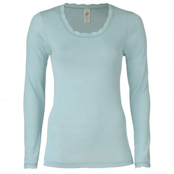 Engel - Women's Shirt L/S mit Spitze - Silkeundertøy