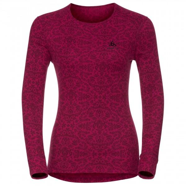 Odlo - Women's Shirt L/S Crew Neck God Jul Print - Syntetisk undertøj