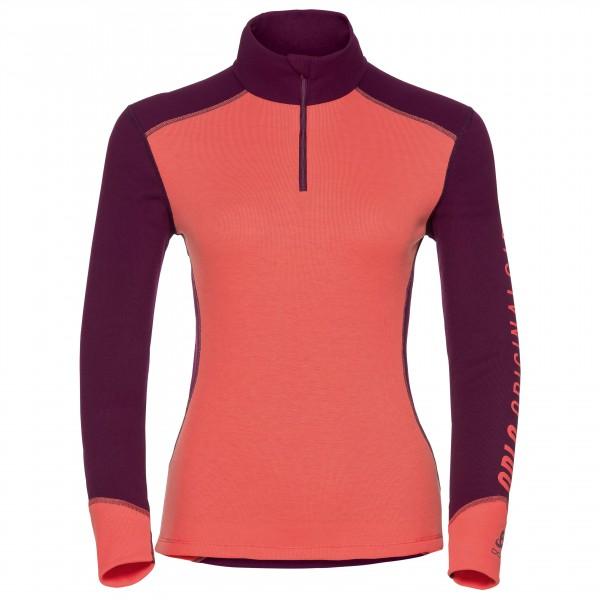 Odlo - Women's Shirt L/S Turtle Neck 1/2 Zip Warm Revelst - Synthetisch ondergoed