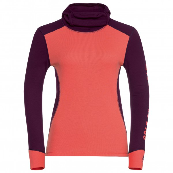 Odlo - Women's Shirt L/S With Facemask Warm Revelstoke - Underkläder syntet