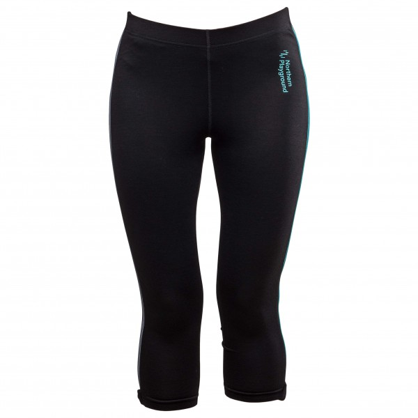 Northern Playground - Women's Ziplongs 3/4 Microfleece - Underkläder syntet