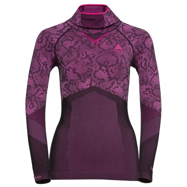 Odlo - Women's Blackcomb Evolution Shirt L/S with Facemas - Syntetisk undertøj