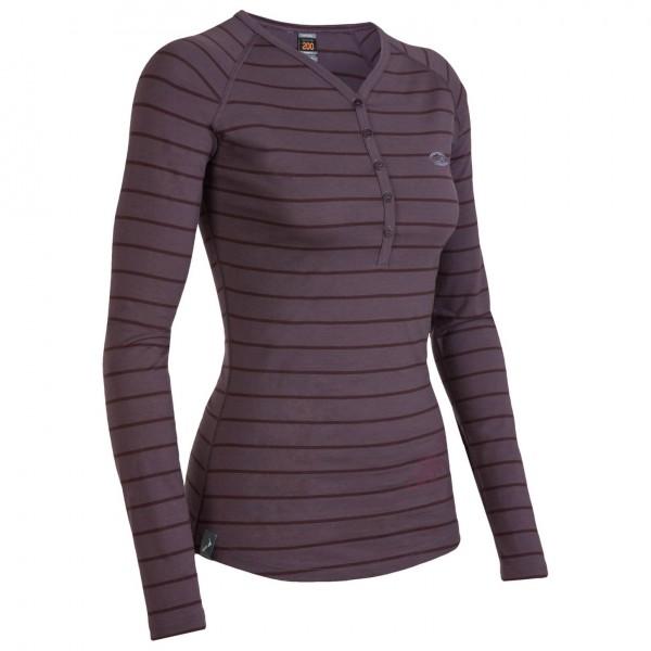 Icebreaker - Women's Bodyfit 200+ LS Stripe Henley