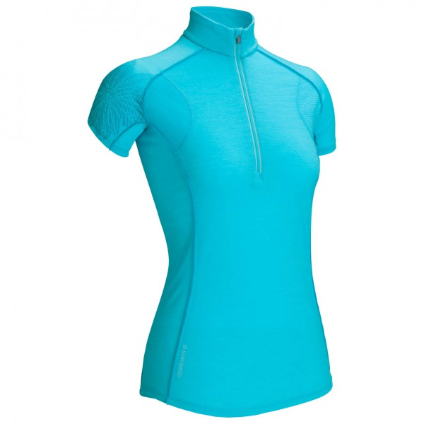 Icebreaker - Women's Flash SS Half Zip - T-shirt technique