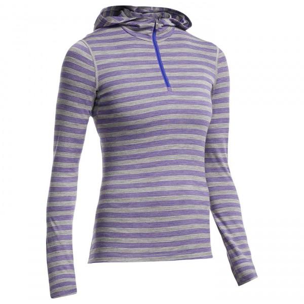 Icebreaker - Women's Oasis L/S Half Zip Hood Stripe