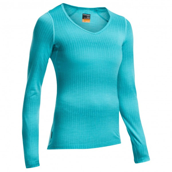 Icebreaker - Women's Oasis L/S V Matrix - Merino underwear