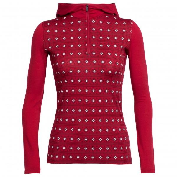 Icebreaker - Women's Oasis L/S Half Zip Hood Align - Merino ondergoed