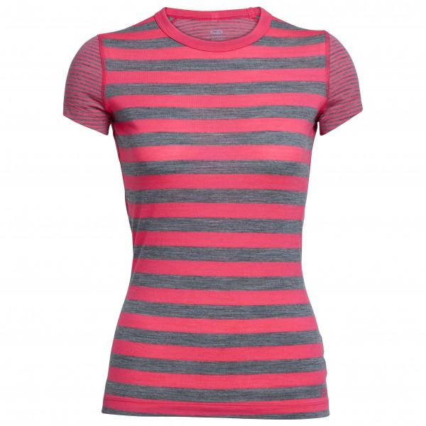 Icebreaker - Women's Sprite S/S Crewe Stripe - Merino ondergoed
