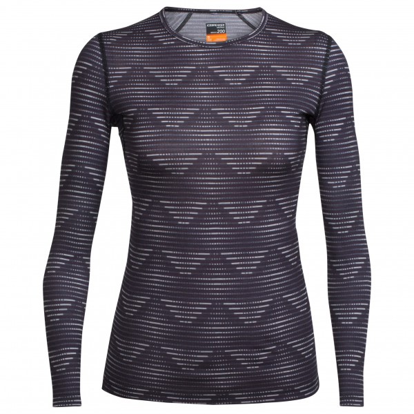 Icebreaker - Women's Oasis L/S Crewe Diamond Line - Merino base layer