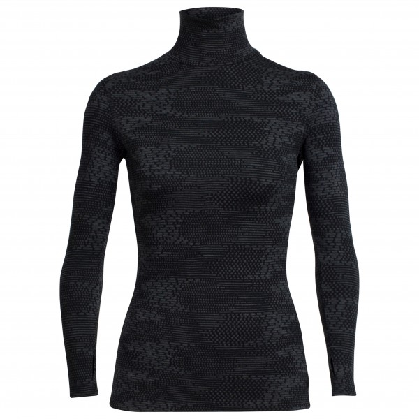 Icebreaker - Women's Vertex L/S Turtleneck Flurry - Merinoundertøy