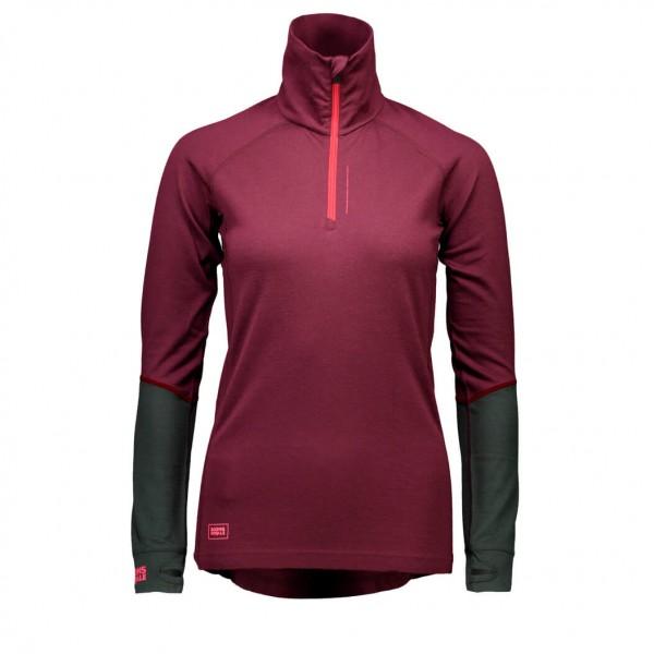 Mons Royale - Women's Checklist L/S 1/4 Zip Geo - Merino undertøj