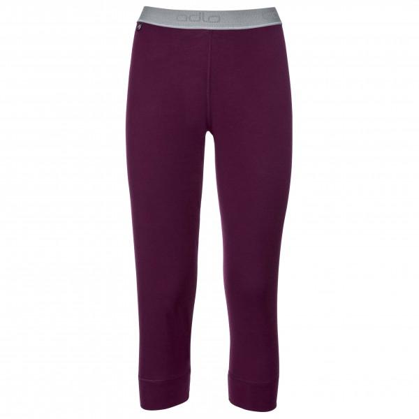 Odlo - Women's Pants 3/4 Natural 100% Merino Warm - Merinovilla-alusvaatteet