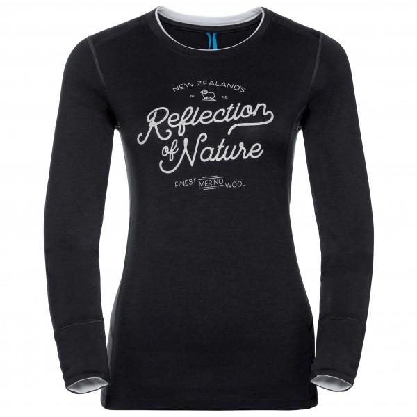 Odlo - Women's Shirt L/S Crew Neck Natural 100% Merino Pr - Underkläder merinoull