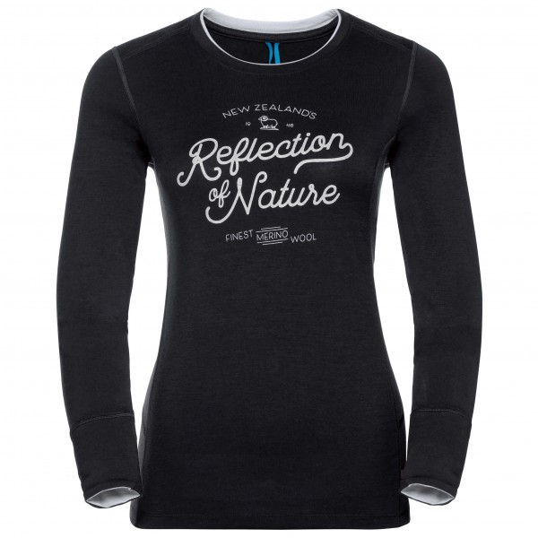Odlo - Women's Shirt L/S Crew Neck Natural 100% Merino Print