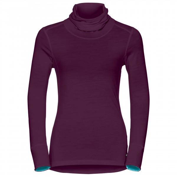 Odlo - Women's Shirt L/S Turtle Neck Natural 100% Merino - Underkläder merinoull
