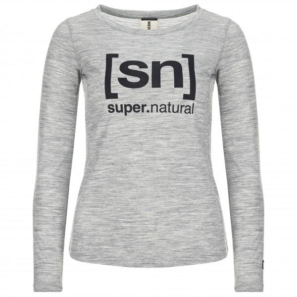 SuperNatural - Women's Essential I.D. L/S - Merinovilla-alusvaatteet
