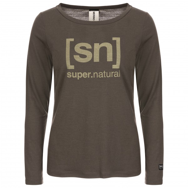 SuperNatural - Women's Essential I.D. L/S - Merinoundertøy