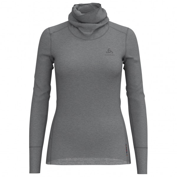 Odlo - Women's Suw Top Turtle Neck L/S Natural Merino - Underkläder merinoull