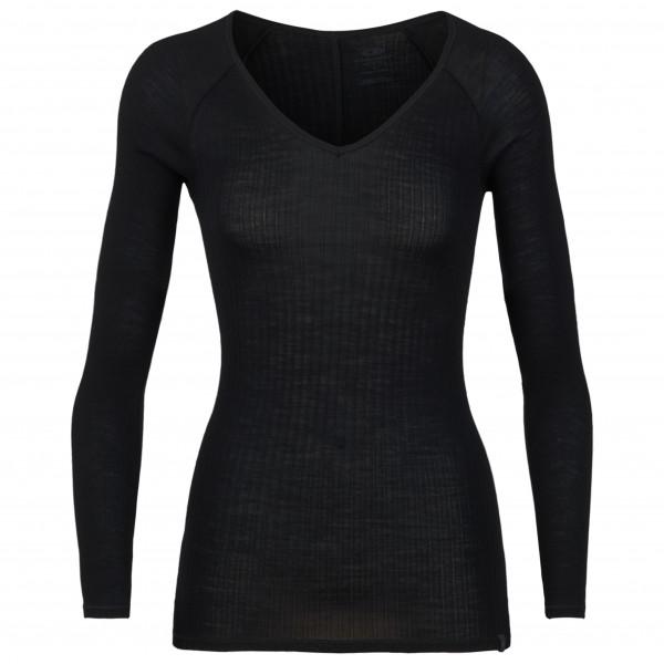 Icebreaker - Women's Luxe Rib L/S V - Underkläder merinoull