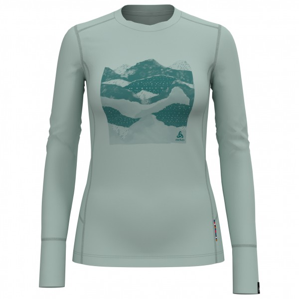 Odlo - Women's BL Top Crew Neck L/S Alliance - Merinovilla-alusvaatteet