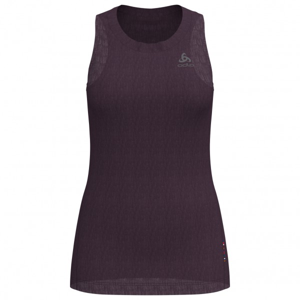 Odlo - Women's SUW Top Crew Neck Singlet Natural + Light - Merinovilla-alusvaatteet