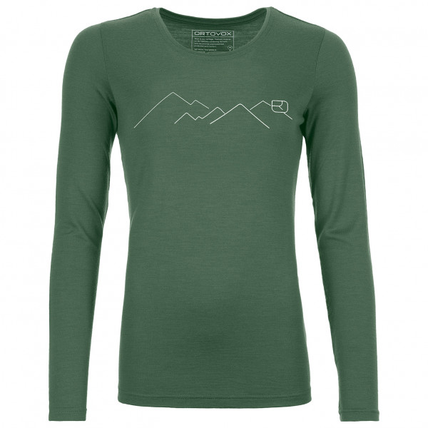 Ortovox - Women's 185 Merino Mountain L/S - Merinovilla-alusvaatteet