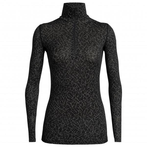 Icebreaker - Women's 200 Oasis L/S Half Zip Sky Paths - Merino undertøj