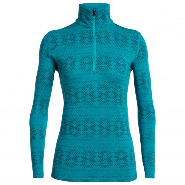 Icebreaker - Women's 250 Vertex L/S Half Zip Crystalline - Merino undertøj