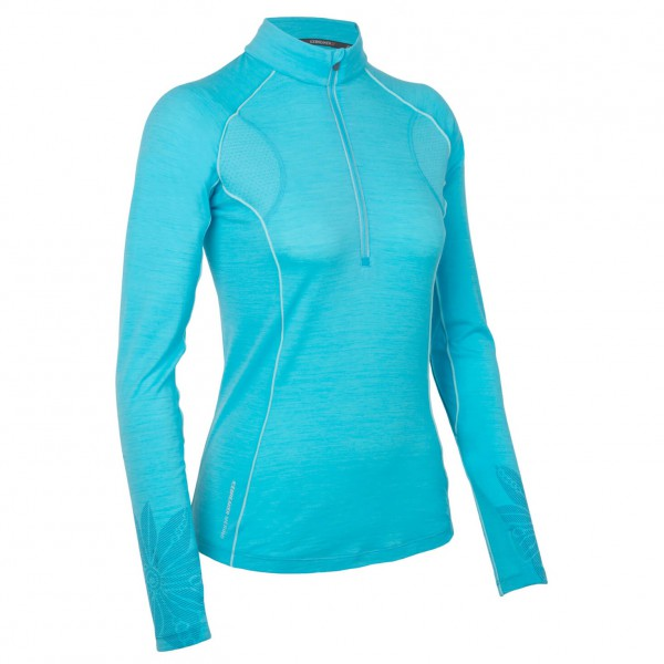 Icebreaker - Women's Flash LS Half Zip - Manches longues