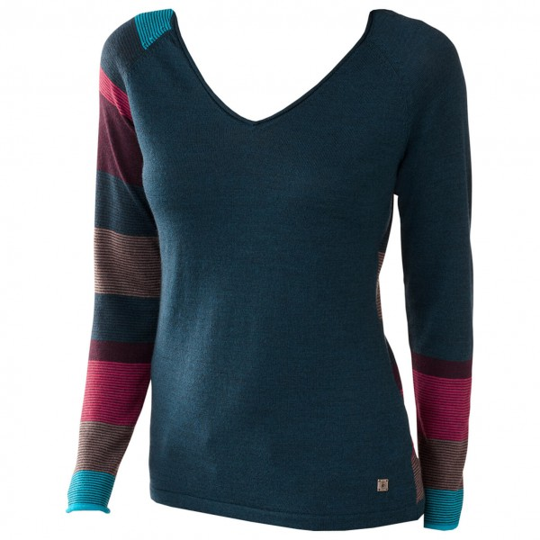Smartwool - Women's Scrolling Stripe V-Neck - Long-sleeve