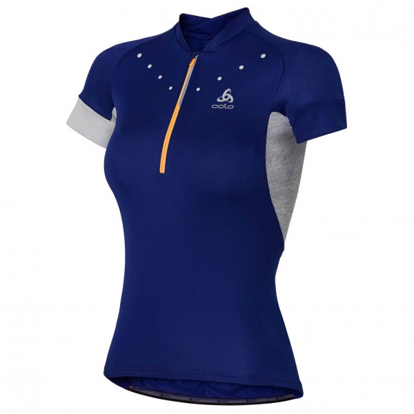 Odlo - Women's Stand-Up Collar S/S 1/2 Zip Isola - Radtrikot