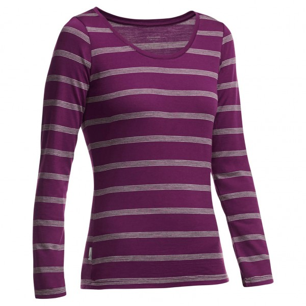 Icebreaker - Women's Crush L/S Scoop Stripe - Longsleeve