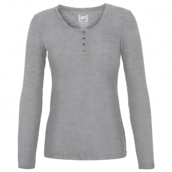 SuperNatural - Women's Button Henley Rib - T-shirt de yoga