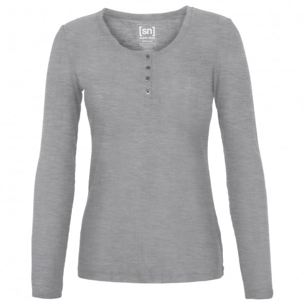 SuperNatural - Women's Button Henley Rib - Yoga shirt