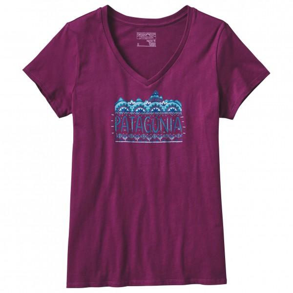 Patagonia - Women's Femme Fitz Roy Cotton V-Neck T-Shirt - T-paidat