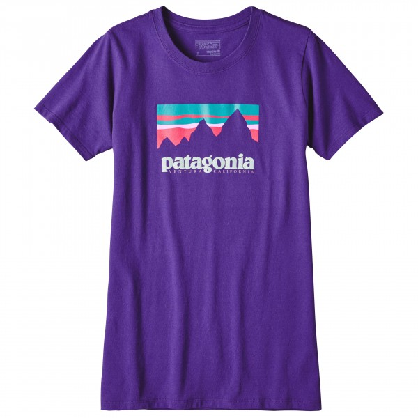 Patagonia - Women's Shop Sticker Cot / Poly Responsibili-Tee