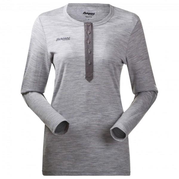 Bergans - Henley Wool Lady Shirt - Överdragströjor merinoull