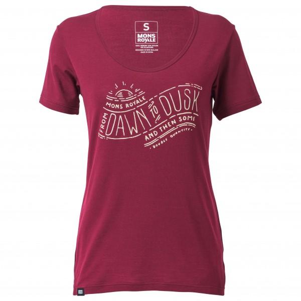 Mons Royale - Women's Charlie Scoop Tee Dawn To Dusk - Camiseta funcional
