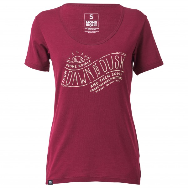 Mons Royale - Women's Charlie Scoop Tee Dawn To Dusk - Sport shirt