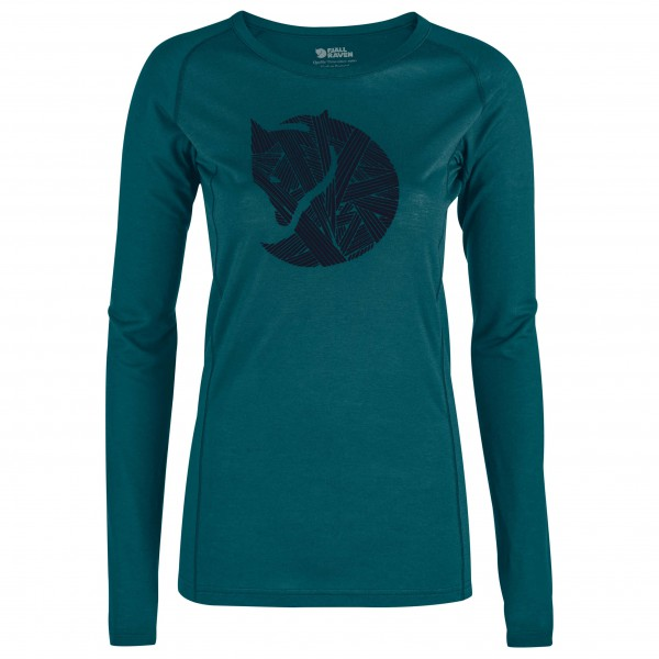 Fjällräven - Women's Abisko Trail T-Shirt Printed L/S - Longsleeve